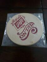"""5 Vintage 1976 SCHLITZ Beer Round """"On Tap"""" Coasters"""