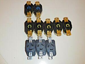 Lot of Hubbell L6-30R 30A, L5-20R 20A, Hart-Lock L5-20 Receptacles - NR!