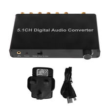 5.1CH Digital Optical Coax to Analog RCA Audio Converter Adapter for DVD