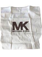 "Michael Kors Dust Bag 15X14 Canvas Beige Drawstring 21""x21.5"" Never Used"