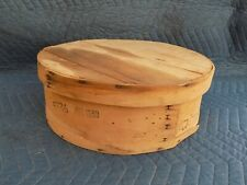 "Wood Cheese Box Case 15"" Round 1990 Vintage Dufeck's Dufleck Denmark, Wisconsin"