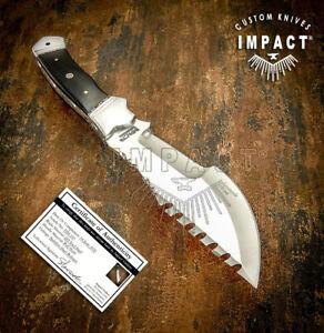 IMPACT CUTLERY RARE CUSTOM BUSHCRAFT COMBAT TRACKER SURVIVAL KNIFE FULL TANG