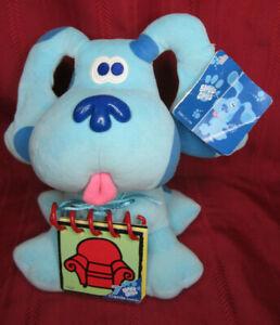 "1998 Viacom Eden 10"" Blue's Clues Plush w/Handy Dandy Notebook"