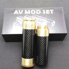 AV Style Able Stacked Carbon Fiber Dual 18650 Mod Kit-Brass+Black