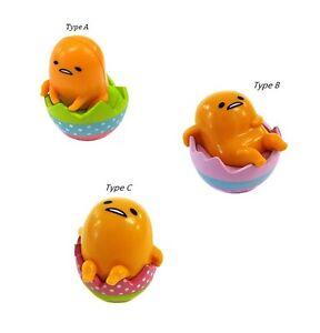 Amuse Gudetama Lazy Egg Roly Poly 1.5'' PVC Tumbler Figure~ Set of Three AMU7218