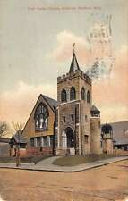 Medford Massachusetts Unitarian First Parish Church Antique Postcard K32359