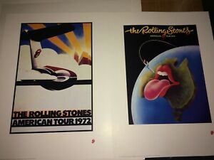 The Rolling Stones Tour Lithograph Set US 1972 and Australia 1973 SALE
