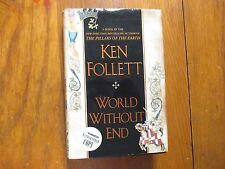 """KEN  FOLLETT  Signed  Book (""""WORLD  WITHOUT  END""""-2007  First Edition  Hardback)"""