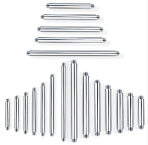 14g 16g Steel Straight Replacement Piercing Bar Spare Parts Nipple Scaffold