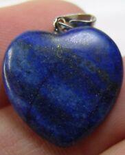 #30 17.70ct Afghanistan 100% Natural Lapis Lazuli Heart Shape Pendant 3.50g 19mm