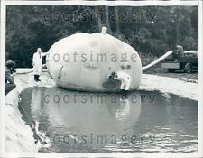 1962 Inflated Pumpkin Like Military Structure Chertsey England Press Photo