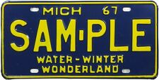 1967 Michigan Sample license plate (Gibby Choice)