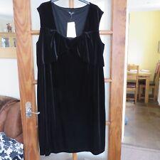 Pomodoro Plain Black 'Velvet' Dress size 24 BNWT