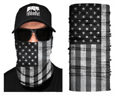 Face Mask Blackout Us Flag Sun Shield Neck Gaiter Headband Bandana Du Rag Spf40