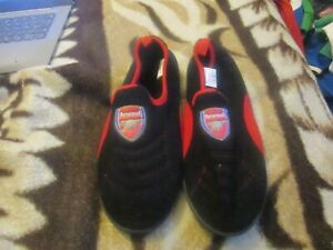 Arsenal Football Club Blue and Red Soft Slippers Size 5-6
