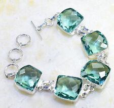 """7-8 1/4"""" X86667 Green Amethyst Bracelet"""