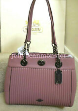 COACH 22751 TURNLOCK EDIE QUILTED LEATHER CARRYALL SHOULDER BAG Dusty Rose Pink