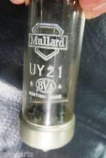 Vtg Mullard UY21 indirectly heated half wave rectifier Radio valve tube C 1940