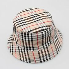 Unisex Kids Childrens 100% Cotton Summer Beach Bucket Hats Reversible free size