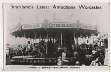 Worcester, Stricklands Fair, Galloping Horses Photo Card, B518