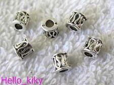 300pcs Tibetan silver barrel spacers Beads A1580