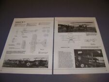 VINTAGE..FOKKER DR.1 HISTORY..3-VIEWS/SPECS/DETAILS/STRUCTURE..RARE! (586S)