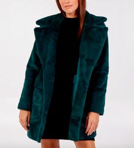 Blue Vanilla Women's Reversible Shearling Green Coat BNWT Size UK 12