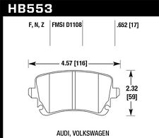 Disc Brake Pad Set-Base Rear Hawk Perf HB553F.652