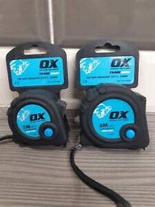 Set Of OX Trade Tape Measures 1- 5m and 1- 8m Combined postage on request