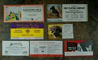 Vintage Business Trade Blotter Cards,  Advertising Erie PA. Lot of 7 ships free*