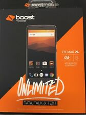 "BRAND NEW ZTE Max XL 6"" Boost Mobile w/ first month service included -NEW NUMBER"