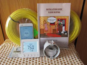 WIFI 0EMF Warm Tile Under Floor Heating System150-190sq.ft.(14-18sq m) 220-240 V
