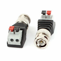2 Pcs Clip Type Terminal Block Coaxial Cat5 to BNC Female Jack Connector