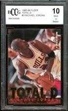 1995-96 Fleer Total D #3 Michael Jordan Card BGS BCCG 10 Mint+