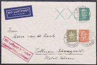 DR W27.2, W29 MiF toller Lupo Brief Luftpostamt Freiburg, gel. Essen - Todtnau