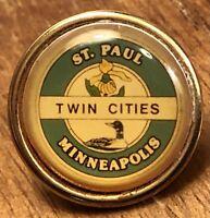 St. Paul Minneapolis Twin Cities Lapel Hat Pin Pinback ~ Minnesota ~ MN