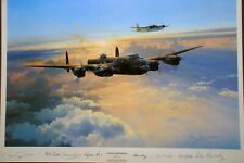 autographed by 4 Ju52 aircrew and 2 aces Special Duties Robert Taylor print