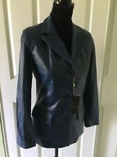 $1295.00 NWT BABY LAMB SILKY SOFT LEATHER JACKET SIZE M ITALY