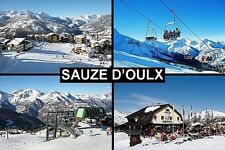 SOUVENIR FRIDGE MAGNET of SAUZE D'OULX ITALY SKIING