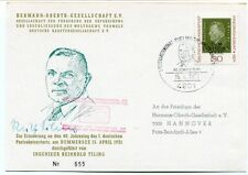 1971 Hermann Oberth Gesellschaft Hannover Deutsche Bundespost Dummersee SIGNED ?