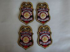 Group Of 4 FIRE DEPT - MACON BIBB COUNTY (Georgia) Machine Embroidered Patches