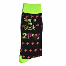Simply The Best 21 Year Socks 21th Birthday Gifts, One Size Novelty Present