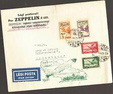 1931 ZEPPELIN CACHET COVER,Budapest-Dusseldorf,Overprint ZEPPELIN Stamps