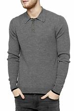 Unifarbene Herren-Pullover & -Strickware mit Polokragen aus Wolle