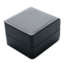 Luxury Watch Box Jewellry Leather Gift boxes Velvet Pillow Black button open box