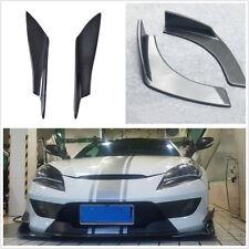 4 Pcs Carbon Fiber Front Bumper Body Spoiler Canards Valance & Bumper Splitters