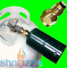 ICE FISHING Tool SHNOZZLE Refill small 1 LB Propane Bottle tank camping adapter
