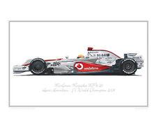 McLaren Mercedes MP4-23 - Limited Edition F1 Race Car Print Poster by Steve Dunn