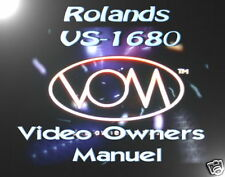 Roland VS-1680 Video Owners Manual on DVD,VERY RARE !!!