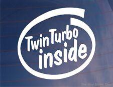 Twin Turbo dentro Novedad car/window/bumper Adhesivo Para horizonte gtr/mitsi Gto